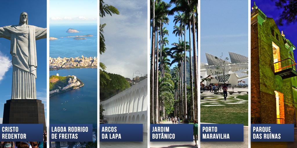 os famosos pontos turísticos do Rio de Janeiro